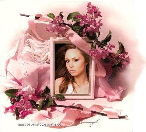 marco de fotos rosado
