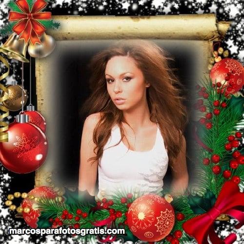 marcos de navidad con adornos