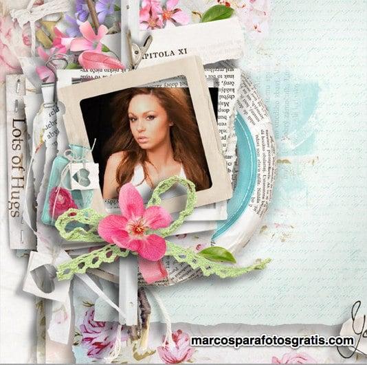 marco de fotos con adornos