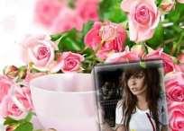 Marco de flores para regalar en el día de la Mujer