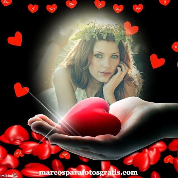 marcos con corazones