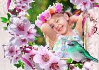 Marcos y fotomontajes de primavera para usar gratis