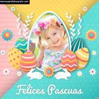 +15 Modelos de marcos de Pascua para crear y descargar gratis