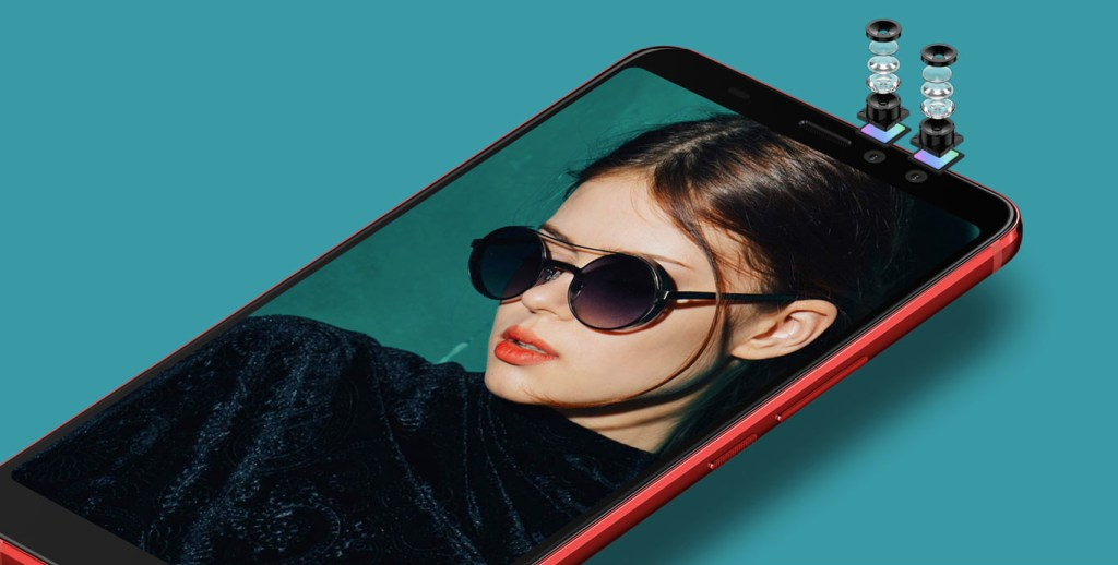 HTC U11 EYEs con doble camara frontal para selfies con efecto bokeh