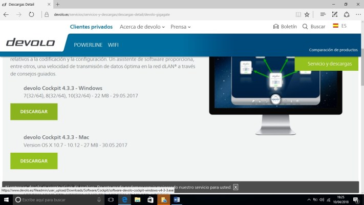devolo GigaGate instalacion en windows