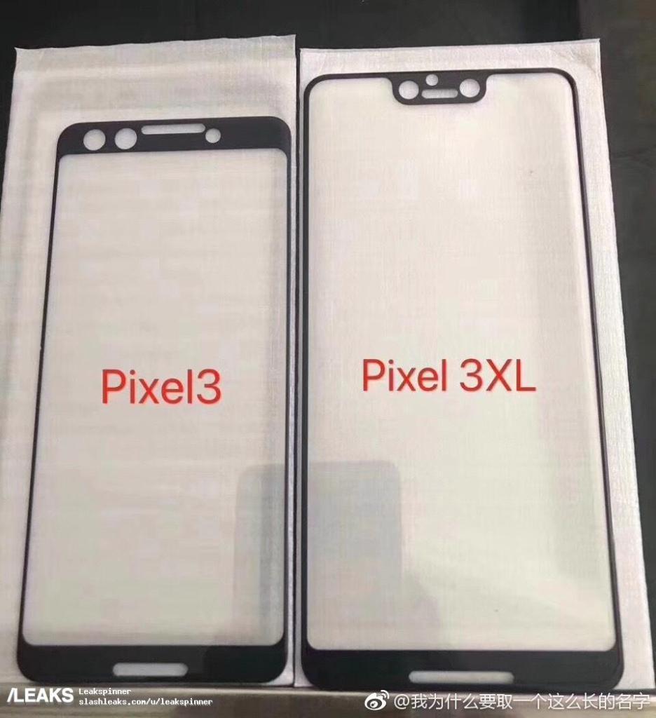 Google Pixel 3 y Pixel 3 XL notch