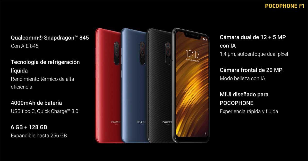 Especificaciones Xiaomi Pocophone F1