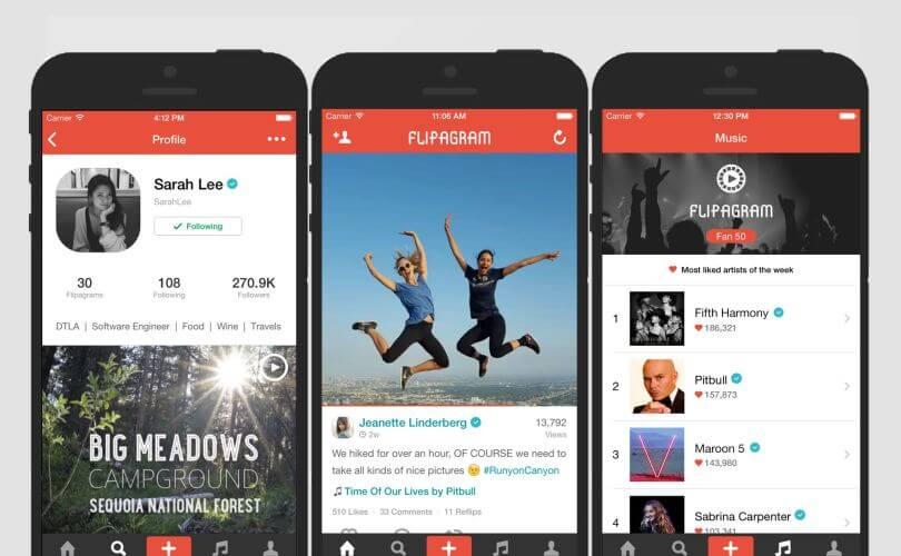 apps de video para tu smartphone-Flipagram