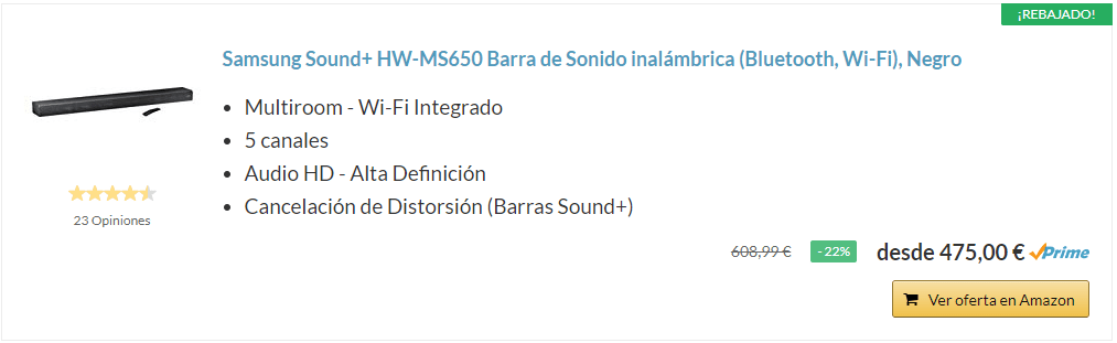 mejores barras de sonido del 2019-Samsung Sound+ HW-MS650