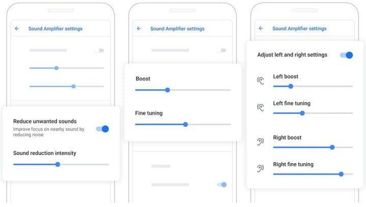 Sound Amplifier app de Google para Android