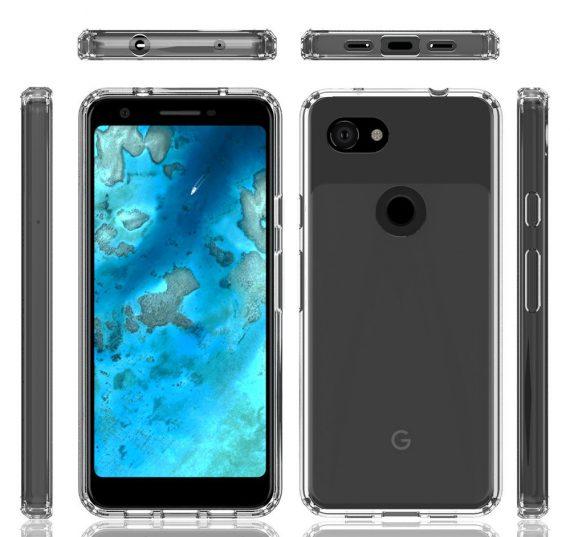 Google Pixel 3A diseño en color negro