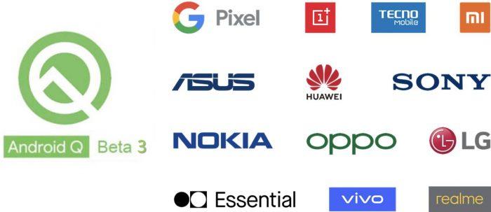 Android Q Beta 3 instalar en teléfonos compatibles