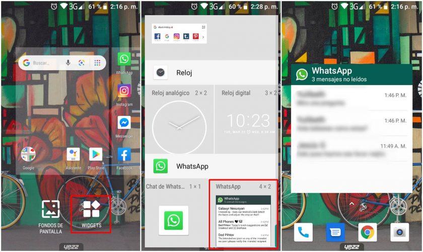 Leer los mensajes de WhatsApp sin que lo sepa Widget