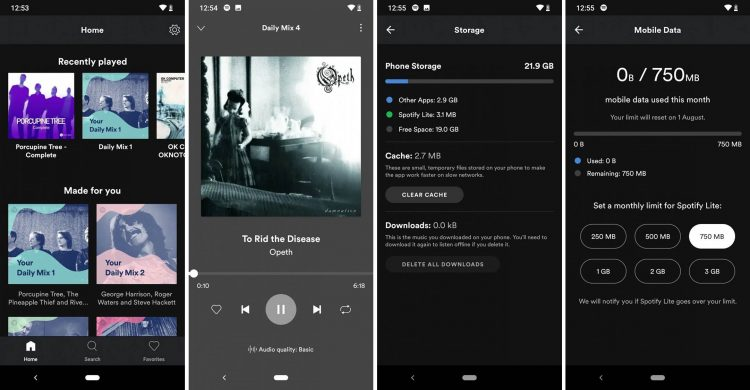 Spotify Lite Android disponible características funciones