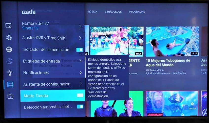 television Hisense U7B-modo tienda