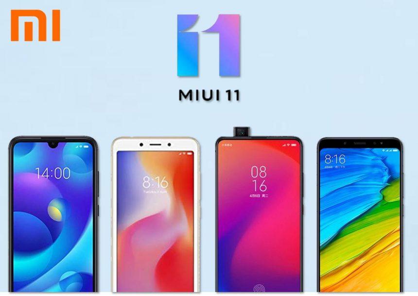Teléfonos de Xiaomi con MIUI 11 Android 10