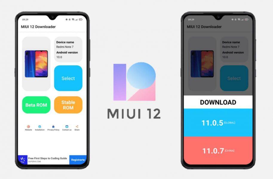 Aplicación MIUI 12 Downloader