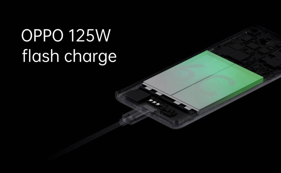 Carga rápida 125W de Oppo Flash Charge