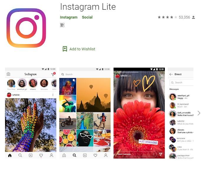Nuevo Instagram Lite