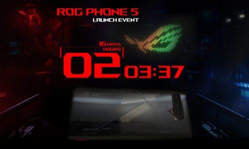 Primera imagen oficial y fecha de presentación del ASUS ROG 5