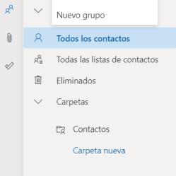 cómo crear una lista de contactos en Outlook-listas de contactos