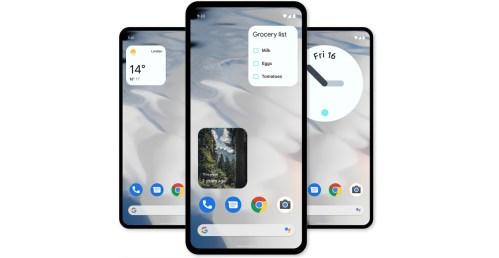 Así serán los widgets de Google con Material You