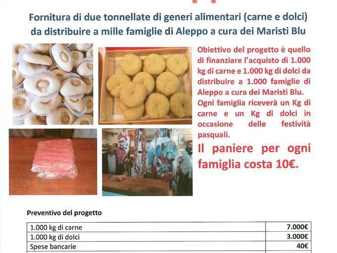 BUONA PASQUA, ALEPPO! UN PROGETTO PER DARE DA MANGIARE A 1350 FAMIGLIE NELLA CITTÀ MARTIRE.
