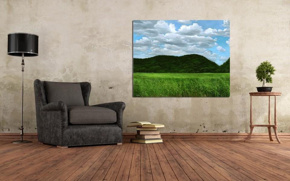 """View of """"Cañaveral"""" artwork / Vista de la obra """"Cañaveral"""" en espacio"""