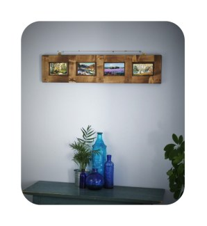 Handmade to order in Somerset Uk by Marc Wood Joinery, this gorgeous recalimed wooden picture frame can be made to hold any size images.