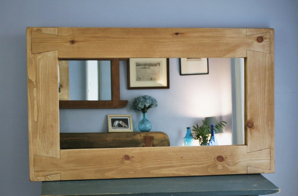 Our timber framed mirrors can be finished in a pale or dark Danish Oil finish in our Somerset workshop.