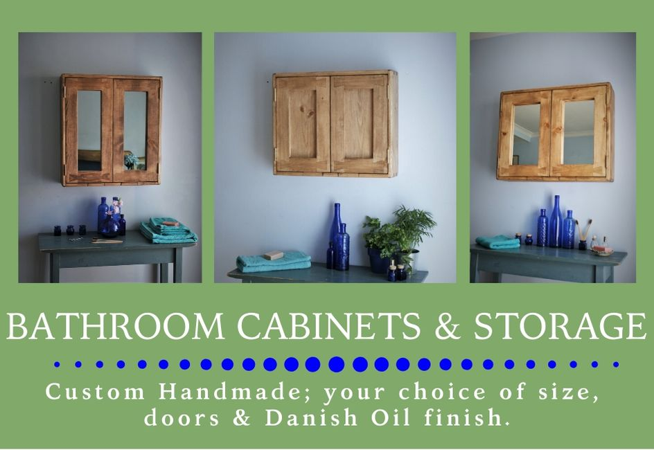 custom handmade modern rustic wooden bathroom cabinets & storage from natural wood, designed and handcrafted by Marc and the team at Marc Wood Joinery in Somerset UK using traditional joinery technique. Our in house bespoke bathroom furniture designs mix country farmhouse natural timber textures with our signature decorative dovetail joint and a sleek modern shape for a unique range of high quality furniture and home décor.