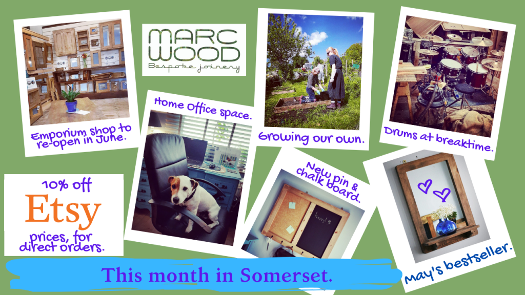 Marc Wood Joinery handmade modern rustic furniture in natural sustainable wood May 2020 Blog news update