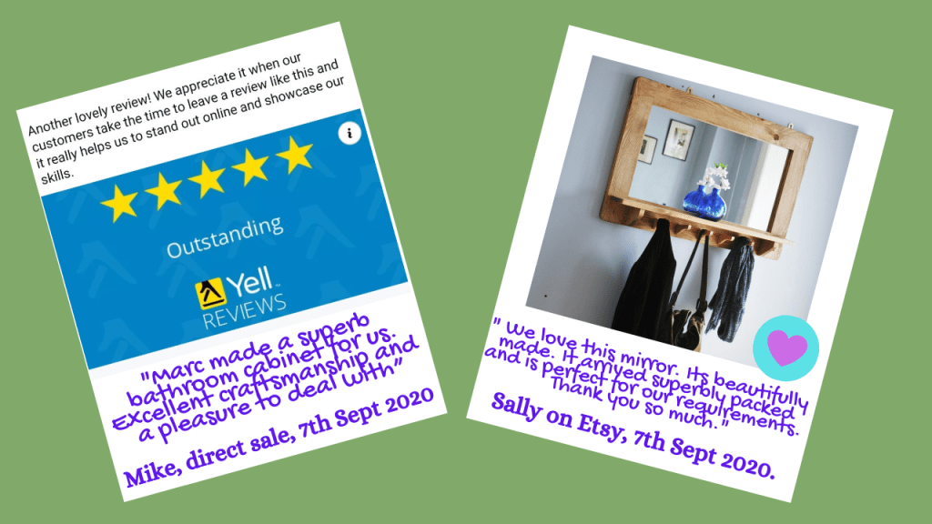5 star Reviews We have a profile on Yell.com (or as we used to know it, the 'Yellow Pages'!)