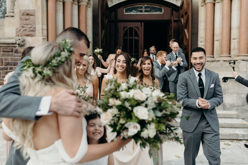 wedding at st peters basilica in london, ontario