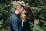 couple in muskoka engagement photos