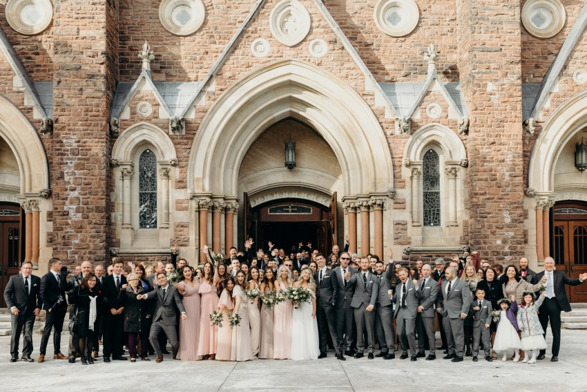 wedding at st peter's basilica in london, ontario