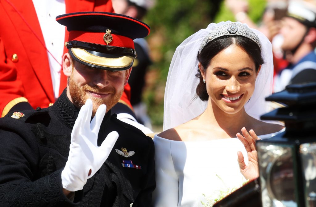 The Duke & Duchess of Sussex on their wedding day