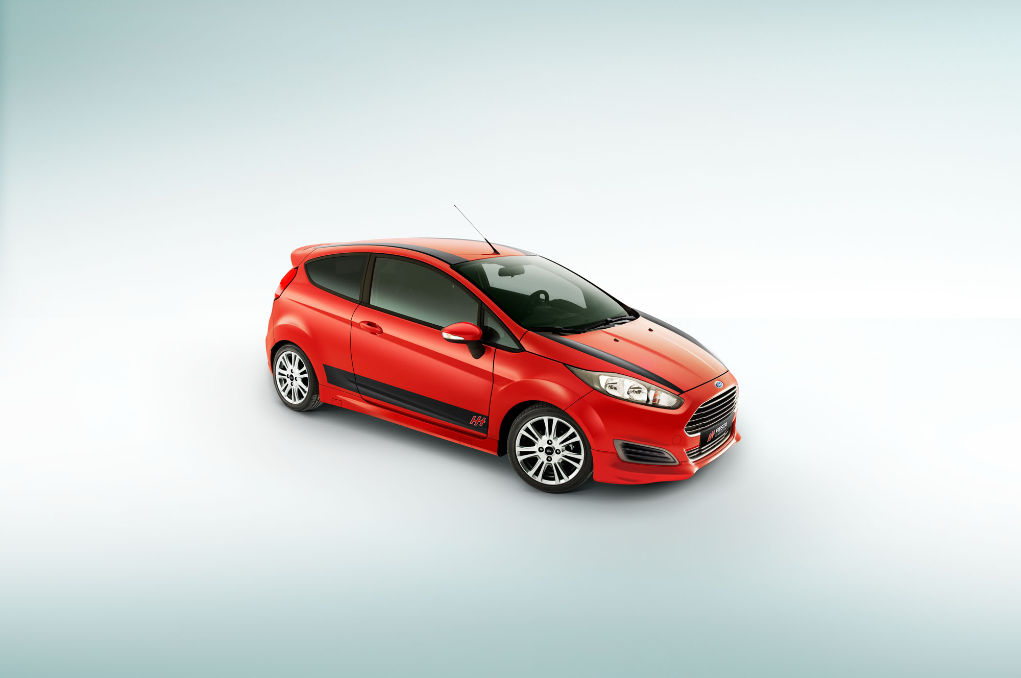 Ford; fiesta; hot hatch; red; car; striping; white background; studio; amsterdam; the netherlands; rood; auto; witte achtergrond