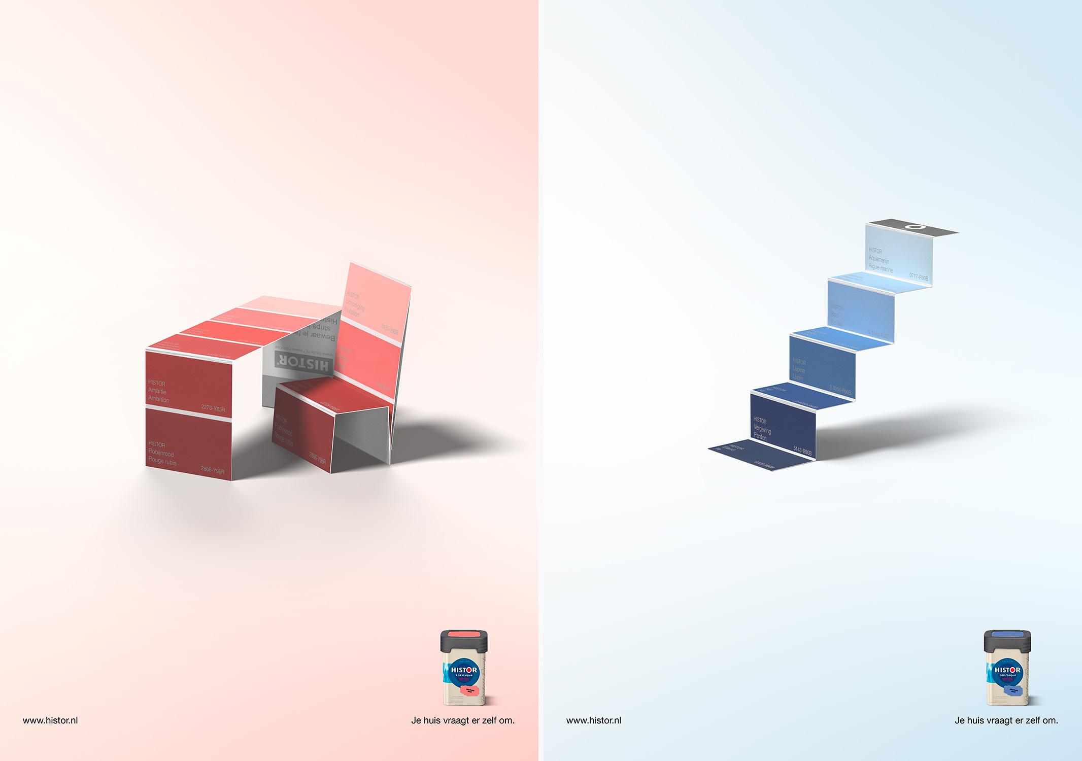 colour; color; sample; card; fold; table; chair; histor; 3d; cgi; amsterdam; the netherlands; kleur; staal; kaart; gevouwen; tafel; stoel; bed