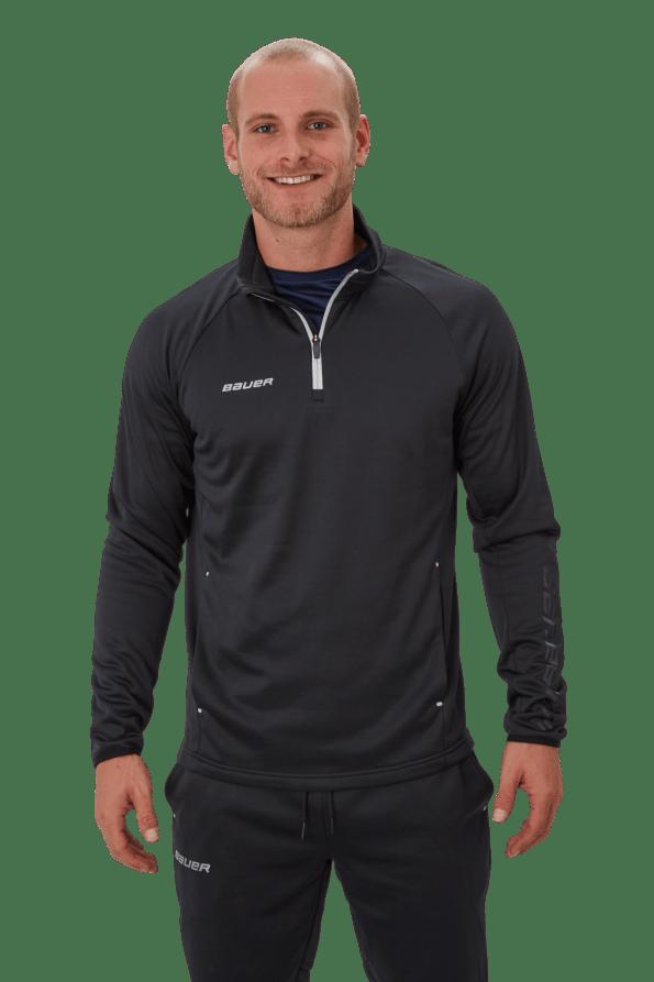 Bauer Vapor Fleece 1/4 Zip Felső pulóver fekete