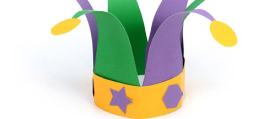 jester hat pattern template mardi gras kids crafts free