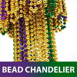 Mardi Gras Bead Chandelier Beaded Letter