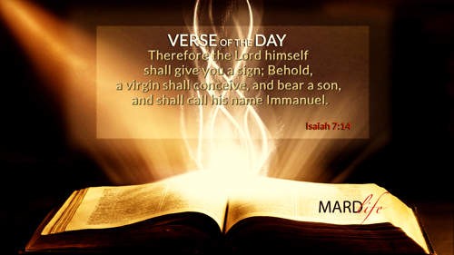 Verse Of The Day: Isaiah 7:10-14