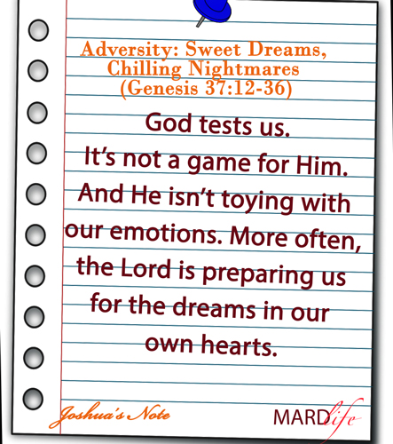 Adversity, Sweet, Dreams, Chilling, Nightmare, Joseph, Jacob, Family, Brothers, Overcome, Hatred,