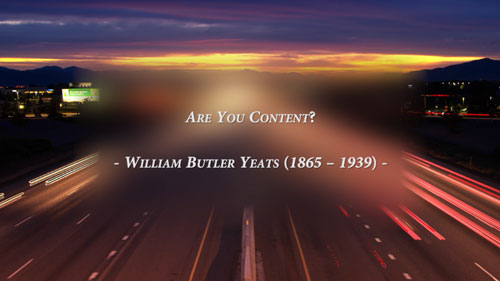 Are You Content? – William Butler Yeats (A Poem)