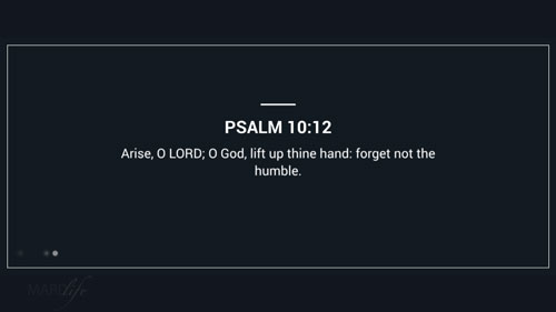 Verse Of The Day: Psalm 10:12-18