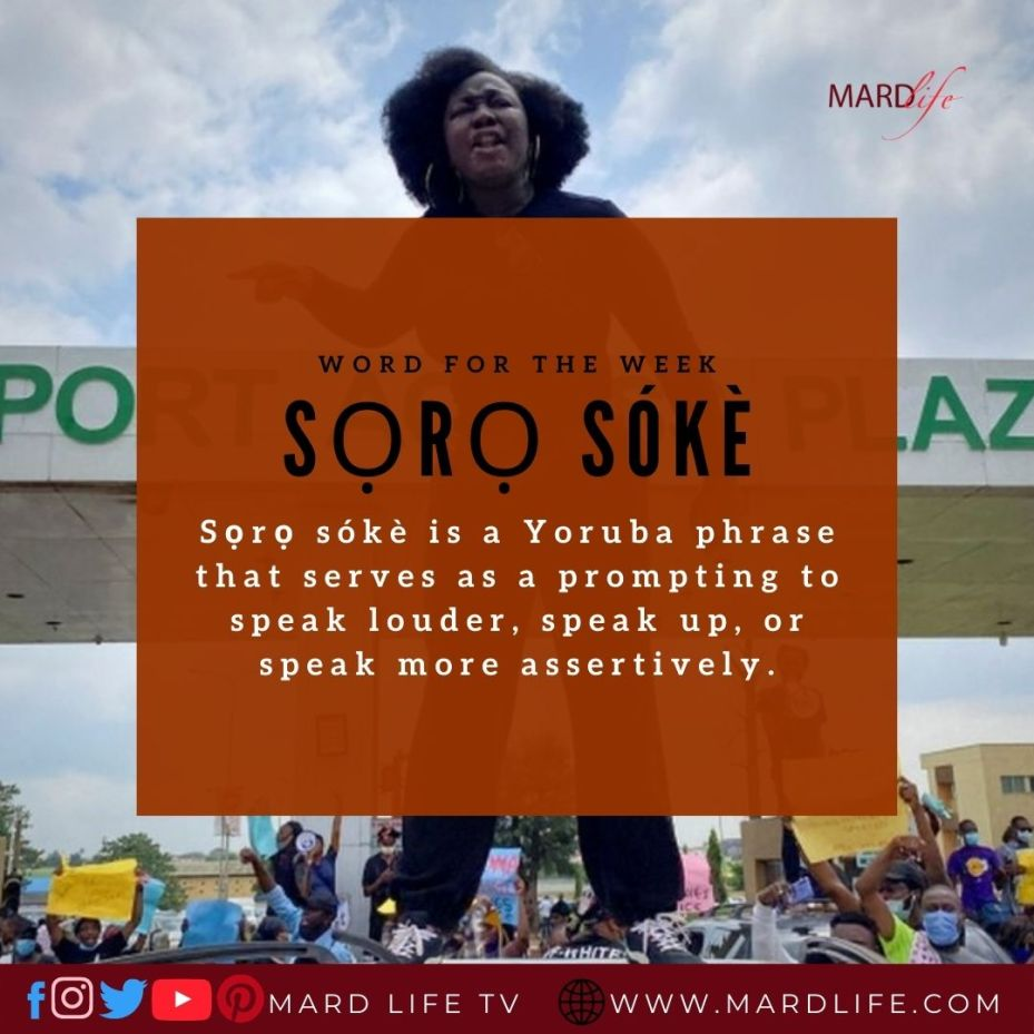 Sọrọ Sókè (Word For The Week)