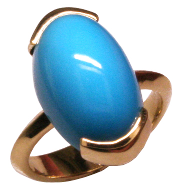 14ky Natural Turquoise Ring Mardon Jewelers