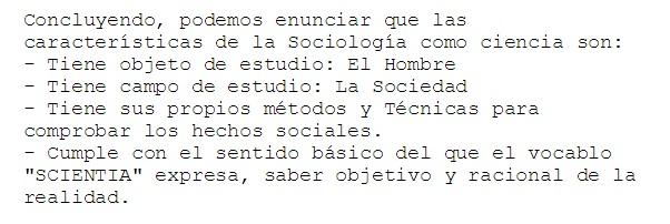 sociologia como ciencia