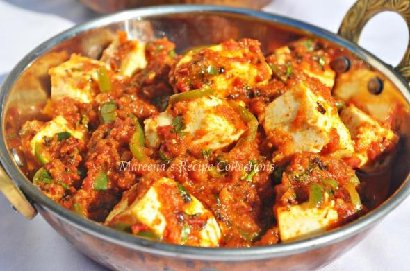 Kadai paneer cottage cheese with capsicum in tomato gravy recipe kadai paneer cottage cheese with capsicum in tomato gravy print recipe forumfinder Images